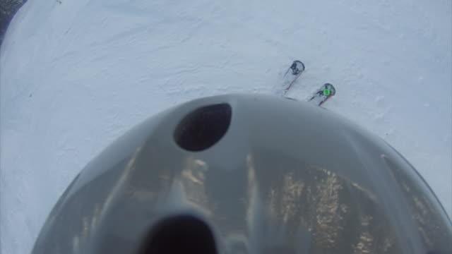 Skiing camera over the helmet