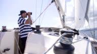 MS Skipper Looking Through Binoculars