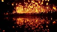 Sky Lanterna festa di Loi Krathong Festival tradizionale