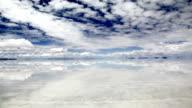 Sky Reflection on Water in Salar de Uyuni, Bolivia