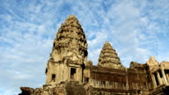 Sky Time Lapse of Angkor Wat in Cambodia