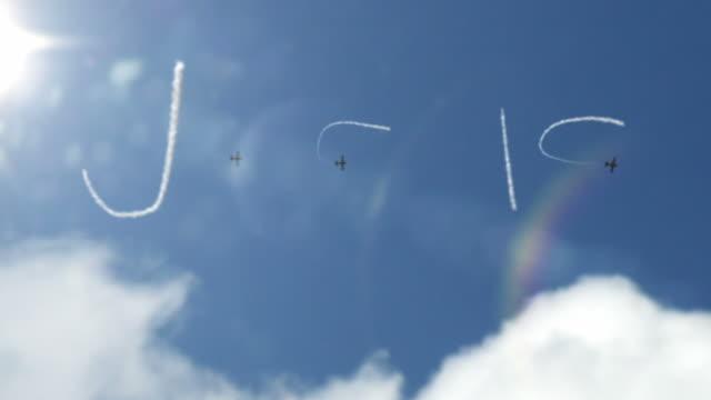Sky scrivere fumo Trail-Gesù (Full HD