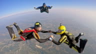 POV Skydiver joining the formation