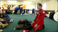 Skydiving grandmother training jump and Interviews ENGLAND Devon Honiton EXT Joan Harding interview SOT Not at all not worried Instructor doesn't...