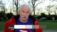 Skydiving pensioner raises money for charity David Powell interview SOT