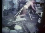 Skylab astronaut on treadmill in zero gravity