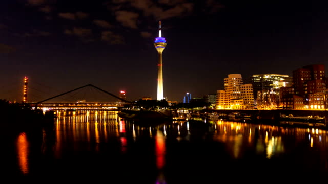 skyline d sseldorf germany time lapse stock footage video. Black Bedroom Furniture Sets. Home Design Ideas