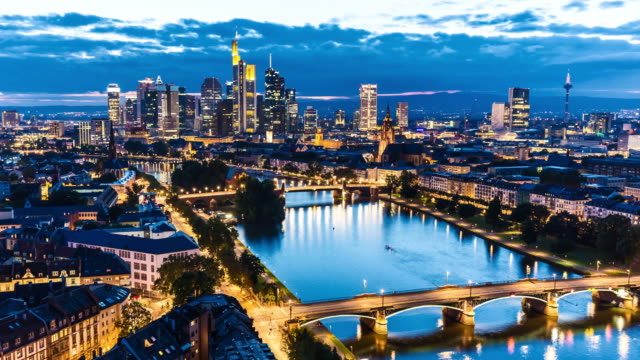 Skyline Frankfurt at sunset