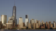 NYC skyline in the evening