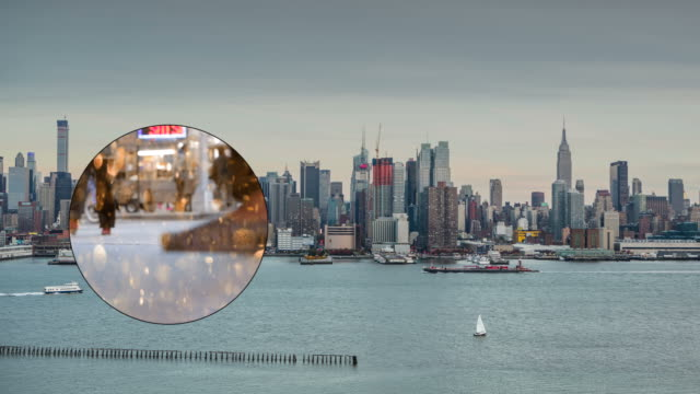 Skyline New York City Day Crowd traffic Busy Empire Binocular