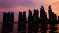 Skyline of Central Business District in dusk