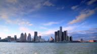 Skyline of Detroit, MI