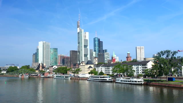 HD Skyline of Frankfurt am Main (Time Lapse)