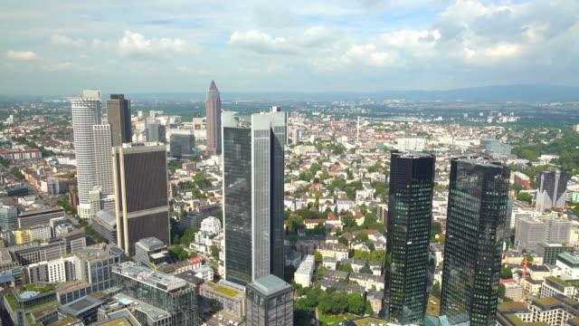 Skyline of Frankfurt, time lapse