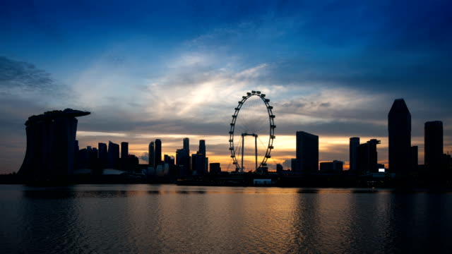 Skyline di Singapore Marina Bay,