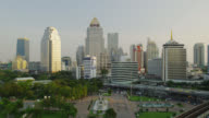 Skyline of Ploenchit Business District late Afternoon, Bangkok, Thailand