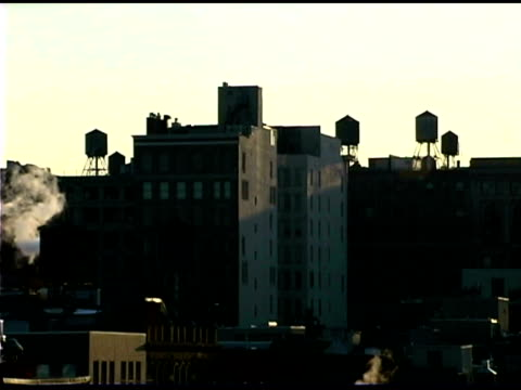Skyline of Soho at dawn, New York