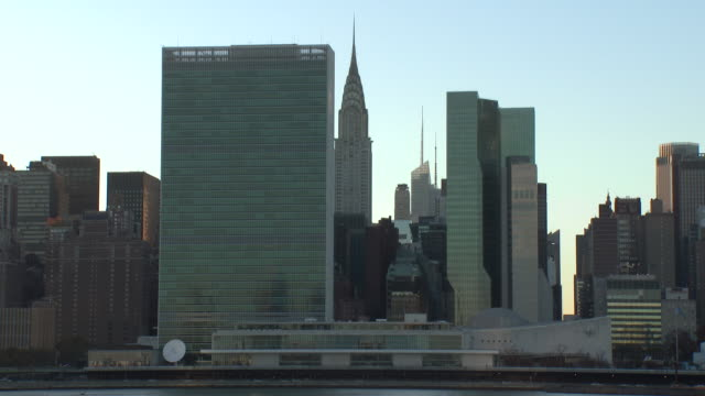NYC Skyline - United Nations & Chrysler Building (Late Afternoon)