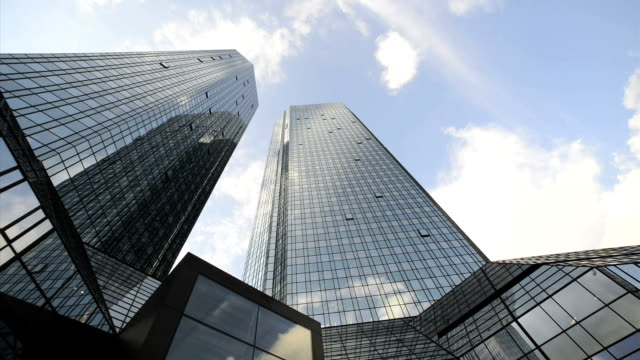 Skyscraper, Deutsche Bank, Frankfurt, Germany, Time Lapse