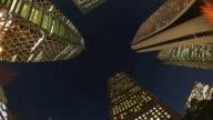 MS Skyscraper of city at night / Shinjuku, Tokyo, Japan