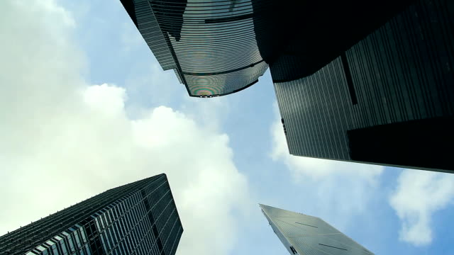 Wolkenkratzer Spining Timelapse