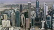AERIAL Skyscrapers and DIFC gate, Dubai, United Arab Emirates