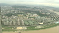 Skyscrapers and high rise buildings mark downtown Seoul, Republic of Korea._Aerial Shot