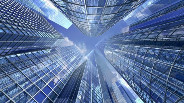 Wolkenkratzer und sky