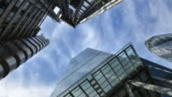 Skyward view of buildings in the City of London