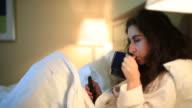 Sleeping/Going to sleep in a hotel room