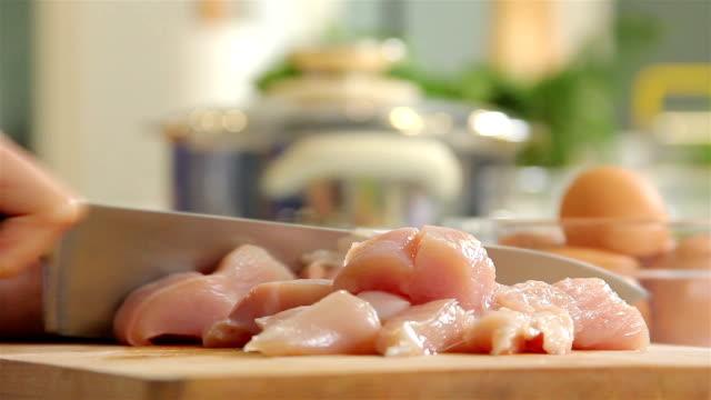 Slicing Raw Chicken
