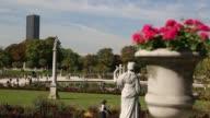 Slider shot of Luxembourg Garden in Paris
