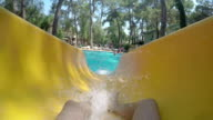 POV: Sliding in a water park