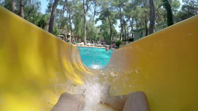 POV: Sliding in a water park