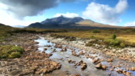 Sligachan River with the Cuillins mountains in the background