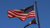 HD SloMo American MIA Flags_LA1 (720/24P)