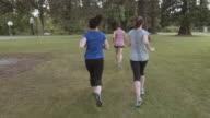 SloMo POV Women's jogging group
