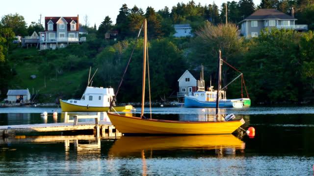 Sloop in St Margaret's Bay, Canada