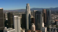 Slow flight past downtown Los Angeles. Shot in 2008.