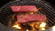 4 K Zeitlupe : Barbecue yakiniku Rindfleisch
