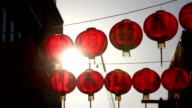 Slow motion: Bright Chinese paper lantern