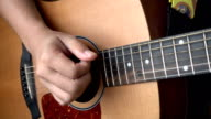 HD Slow Motion: Close Up Video Of Guitarists Hands