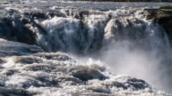 Slow Motion - Dettifoss Waterfall in Iceland