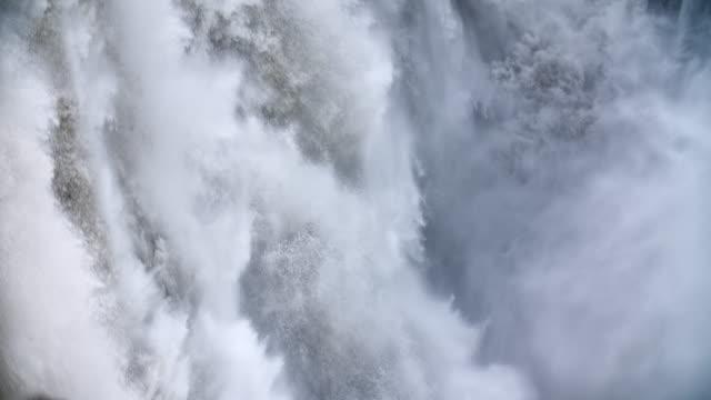 Slow Motion: Falling water at Dettifoss Waterfall