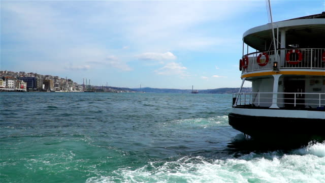 HD: Slow Motion Ferry Terminal istanbul - Stock video