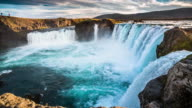 Slow Motion Godafoss Waterfall - Iceland