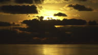 Slow Motion Golden Sunset From Ship in Mauritius 3
