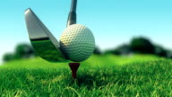 Slow motion golf swing