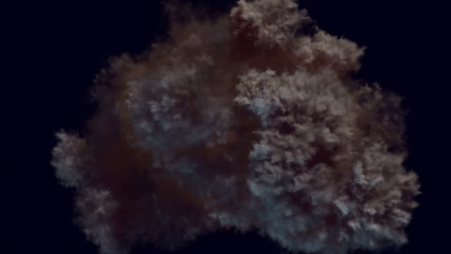 Slow motion highly realistic fire explosions with smoke and alpha matte to compose. 3d rendering