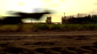 Slow motion Horse racing,  Light speed ​​and shadow